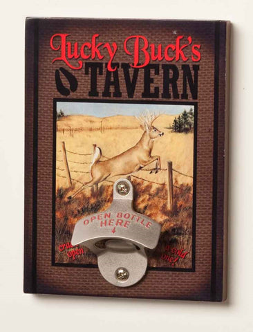 #B5050216 - LUCKY BUCK'S TAVERN BOTTLE BOTTLE OPENER  -  20/CASE