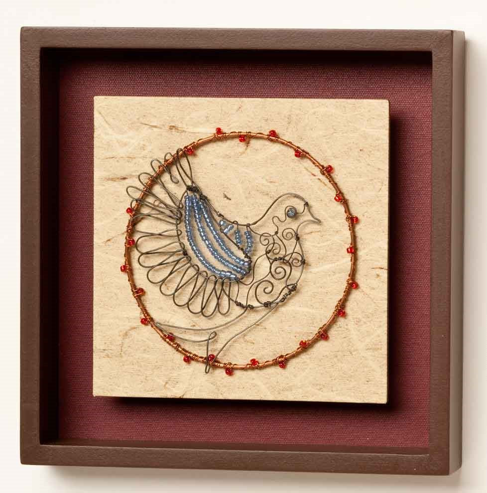 "#B5050245 - 7.5X7.5"" SQUARE BIRD WALL ART  -  12/CASE"