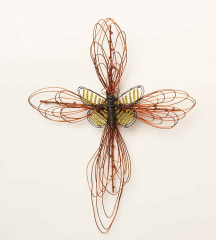 "#B5050246 - 11.5""BUTTERFLY WIRE CROSS  -  12/CASE"