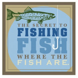"#B5170039 - 10.5""SQ. SECRET TO FISHING WALL ART  -  18/CASE"