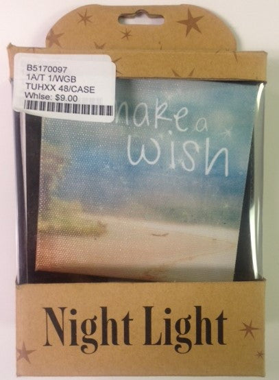 #B5170097 - MAKE A WISH NIGHT LIGHT  -  48/CASE