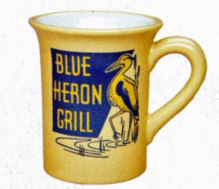 #B5170142 - 16 OZ. BLUE HERON GRILL MUG  -  16/CASE