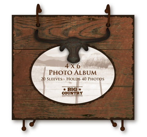 #B5210148 - 4X6 STEERHEAD TABLETOP FLIP ALBUM  -  12/CASE