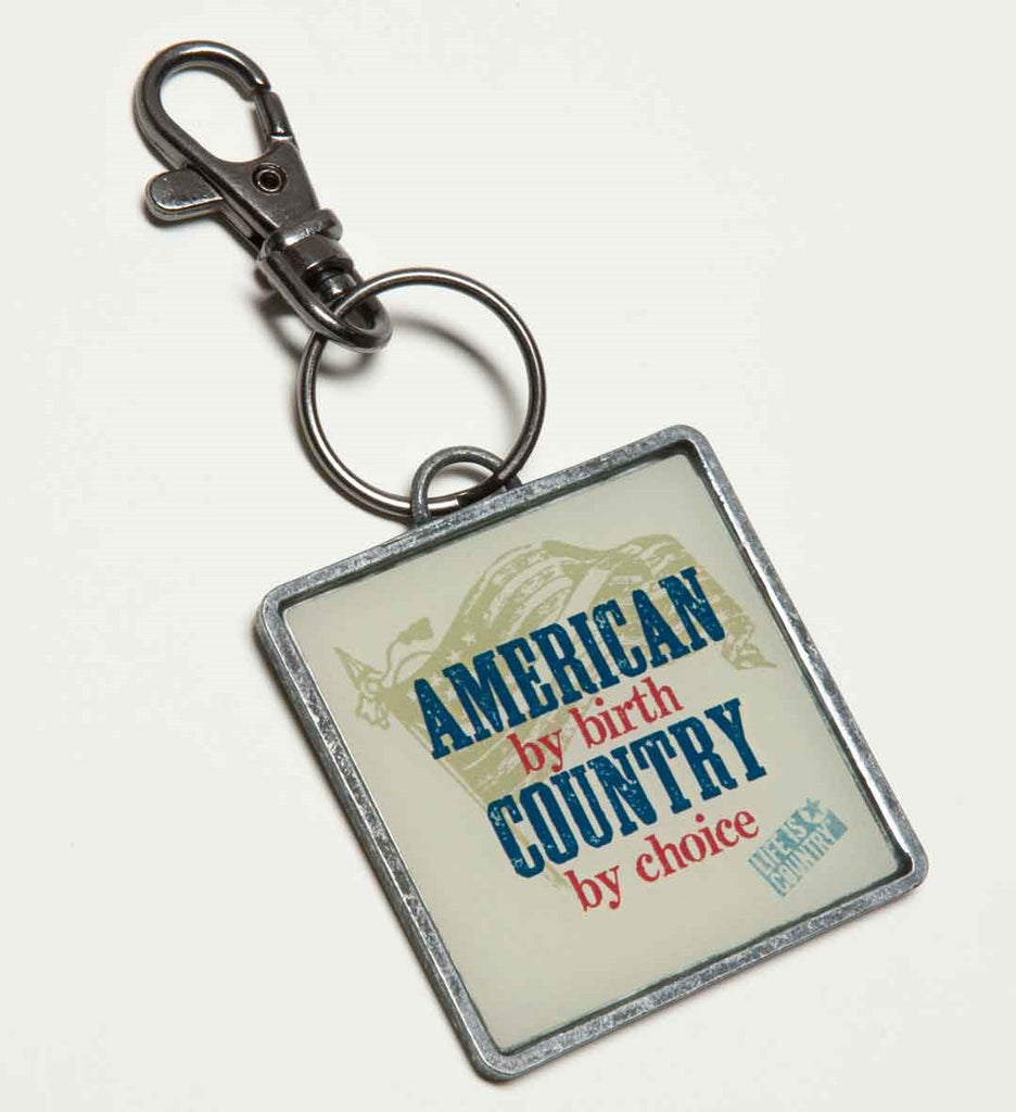 "#B5210205 - 4.25""KEYCHAIN - AMERICAN BY BIRTH-COUNTRY BY CHOICE  -  120/CASE"