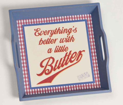 "#B5210232 - 11.5""SQ.TRAY-BETTER W/BUTTER  -  6/CASE"