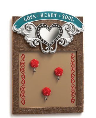 "#B5210275 - 9.75""X 13"" MIRRORED MEMO BOARD LOVE HEART AND SOUL  -  8/CASE"