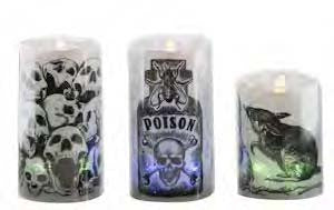 #CA477 - SPOOKY ACRYLIC LED CANDLE  -  24/CASE