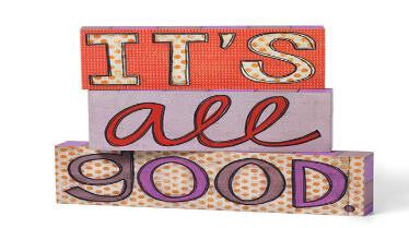 #D100165 - S/3 IT'S ALL GOOD-WALL ART FAMILY  -  12/CASE