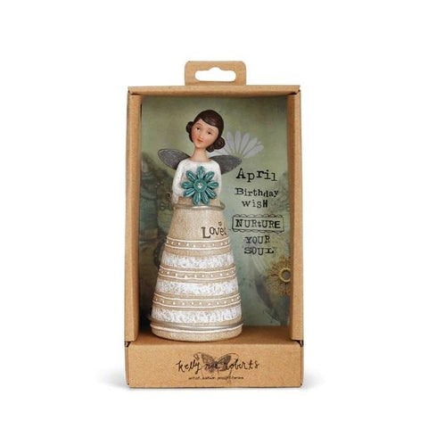 "#D1002720179 - 4.5"" APRIL BIRTHDAY WISH ANGEL  -  32/CASE"