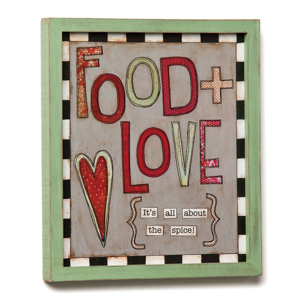 #D1002980059 - 9.5X11 FOOD + LOVE WALL ART  -  12/CASE