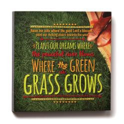 "#D1003060029 - 12""SQ.WHERE THE GREEN GRASS GROWS WALL ART-LYRICOLOGY  -  12/CASE"