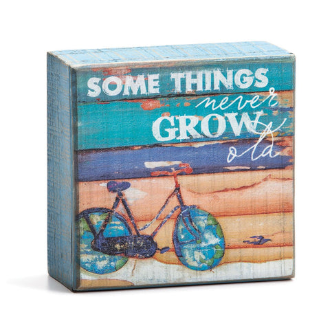 "#D1003150008 - 4""SQ.BOX SIGN-NEVER GROW OLD CULTURE OF CALM  -  24/CASE"