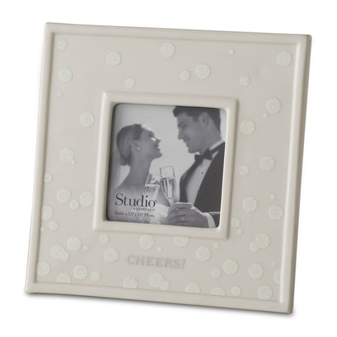 "#D1003170020 - 3.5""SQ.PORCELAIN FRAME-CHEERS!  -  16/CASE"