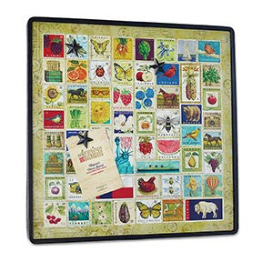 "#D1003250058 - 20""SQ. STATE STAMPS WALL ART WITH STAR MAGNETS  -  4/CASE"