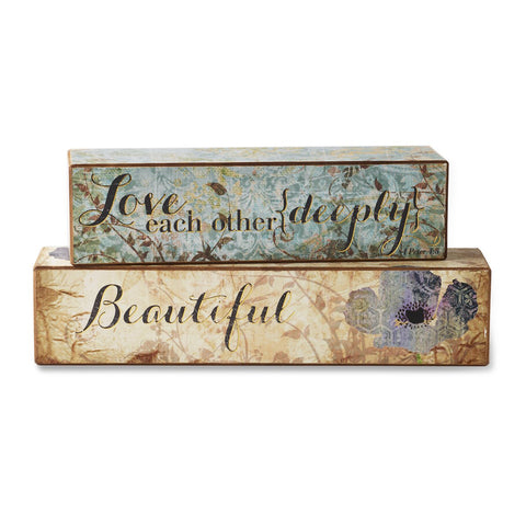 #D1003260021 - S/2 LOVE SCRIPTURE BLOCKS  -  24/CASE