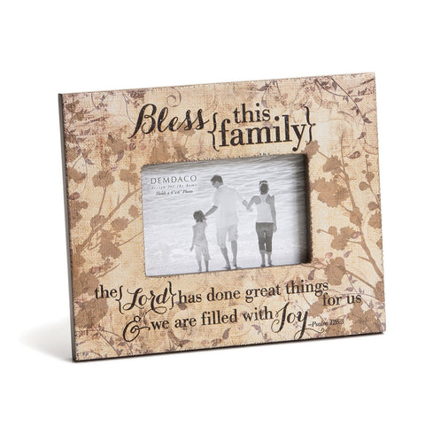 "#D1003260047 - 4""X6"" BLESS THIS FAMILY FRAME  -  12/CASE"