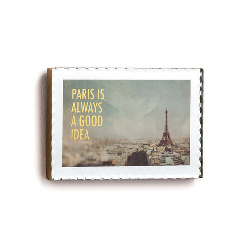 "#D1003270043 - 6.5""X4.5"" MIRROR PARIS PLAQUE PARIS IS ALWAYS A GOOD IDEA  -  24/CASE"