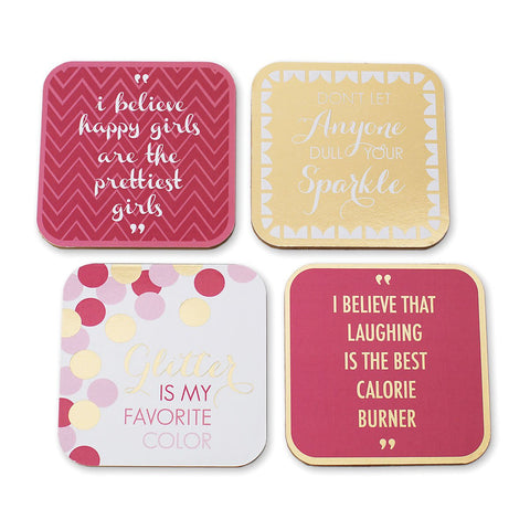 #D1003270050 - S/8 GRAPHIC COASTERS-LOVE IS IN THE AIR  -  40/CASE