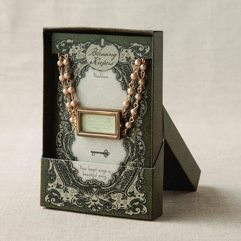 #D1003440004 - HEART SINGS RECTANGULAR LOCKET NECKLACE  -  100/CASE