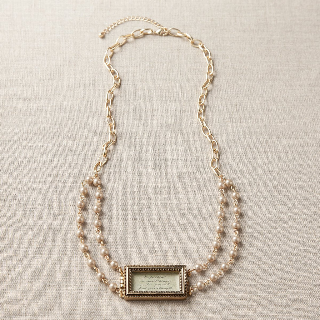 #D1003440005 - BE FAITHFUL RECTANGULAR LOCKET NECKLACE  -  100/CASE