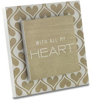 "#D1003490030 - 6""SQ.ALL MY HEART PLAQUE  -  24/CASE"