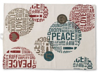 #D1003520021 - PEACE & LOVE TEA TOWEL  -  120/CASE