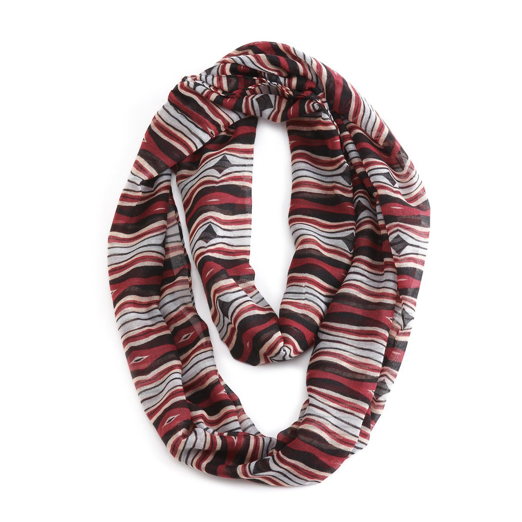 "#D1003660007 - BEETLE STRIPES INFINTY SCARF 20""X70""  -  100/CASE"