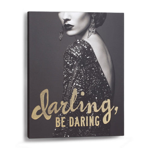 "#D1003700005 - 11""X14"" DARLING BE DARING WALL ART  -  8/CASE"