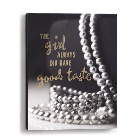 "#D1003700011 - 8""X 10"" WALL ART-GOOD TASTE  -  12/CASE"