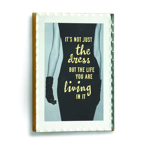 "#D1003700026 - 4.5X6.5""LIFE YOU LIVE MIRRORED PLAQUE  -  12/CASE"