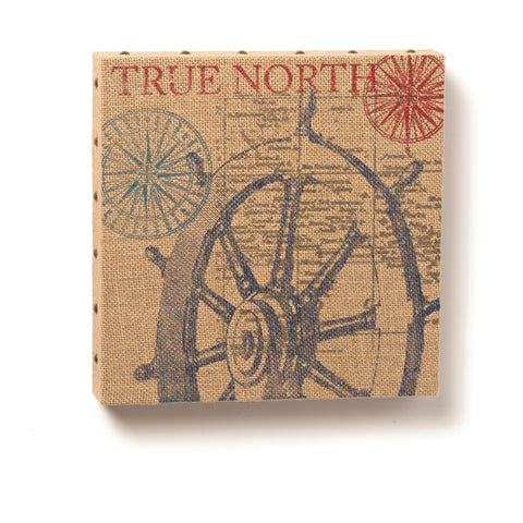 "#D1003720022 - 12""SQ. SHIP'S WHEEL WALL ART BURLAP  -  12/CASE"