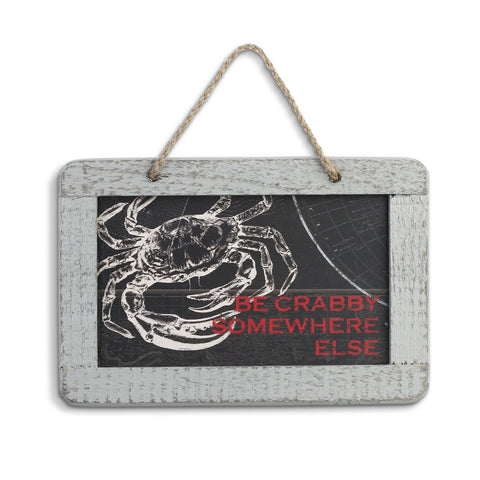 "#D1003720040 - 7""X5"" BE CRABBY PLAQUE  -  48/CASE"