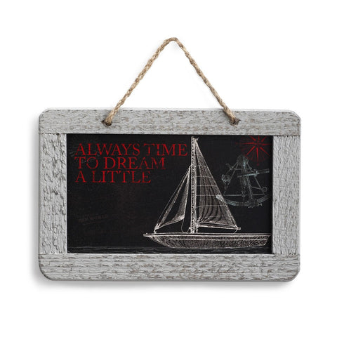 "#D1003720055 - 7""X5"" PLAQUE-TIME TO DREAM DOCKSIDE  -  48/CASE"