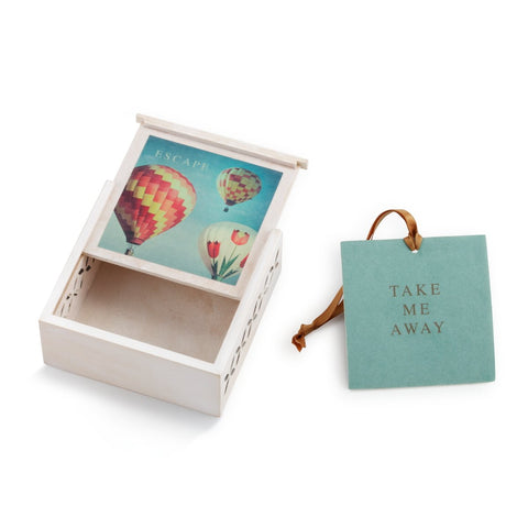"#D1003920027 - 3.5""SQ.ESCAPE SACHET BOX-TAKE ME AWAY  -  96/CASE"