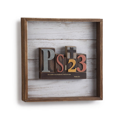 "#D1003940008 - 12""SQ.WALL ART PSALM 23  -  6/CASE"
