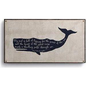 "#D1004230030 - 22""X 12"" WHALE CANVAS WALL ART  -  1/CASE"