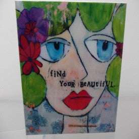 "#D100518 - 8""SQ.FIND YOUR BEAUTIFUL WALL ART  -  12/CASE"