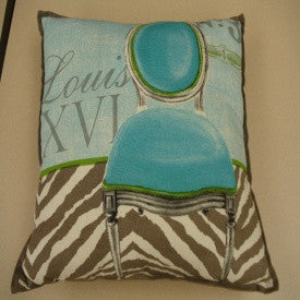 "#D100557 - 18""SQ.NO.3ZEBRA PILLOW  -  24/CASE"