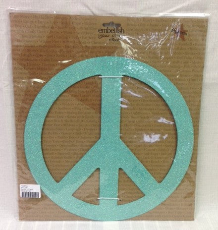 "#D100763 - 12""BLUE PEACE SIGN MAGNETS  -  12/CASE"