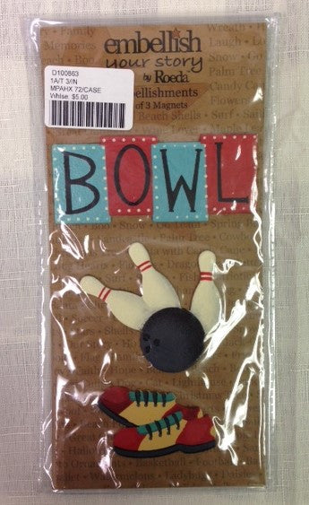 #D100863 - S/3 BOWLING MAGNETS  -  72/CASE