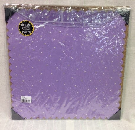 "#D100870 - 16""SQ. LILAC MAGNETIC MEMO BD.  -  12/CASE"