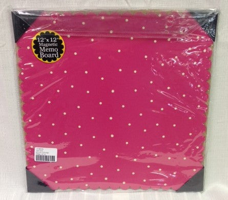 "#D100880 - 12""SQ.PINK MAGNETIC BOARD  -  12/CASE"