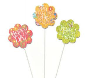 "#D101091 - S/3 16""H  FLOWER STAKES  -  24/CASE"
