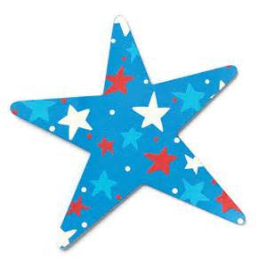 "#D101169 - 6.5""PATRIOTIC STAR MAGNET  -  72/CASE"