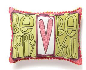 "#D101190 - 23""X12""H BE HAPPY BE YOU PILLOW-FAMILY  -  24/CASE"