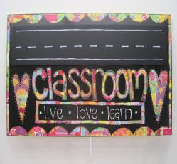 "#D101238 - CLASSROOM CHALKBOARD SIGN 22.5""W X 13.5""H  -  4/CASE"