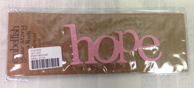 #D101376 - HOPE MAGNET-PINK  -  96/CASE