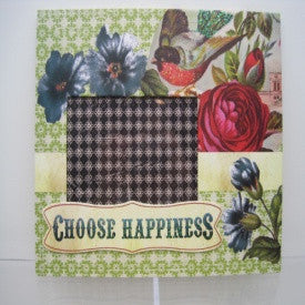 "#D101622 - 4X6""CHOOSE HAPPINESS FRAME PAPER  -  40/CASE"