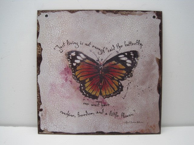 "#D101810 - 12""SQ.BUTTERFLY QUOTE TILE  -  24/CASE"