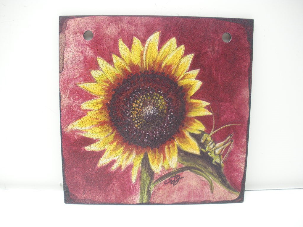 "#D101816 - 6""SQ.SUNFLOWER TILE  -  48/CASE"